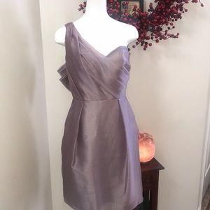 Alvina Valenta Deep Lavender One Shoulder Dress